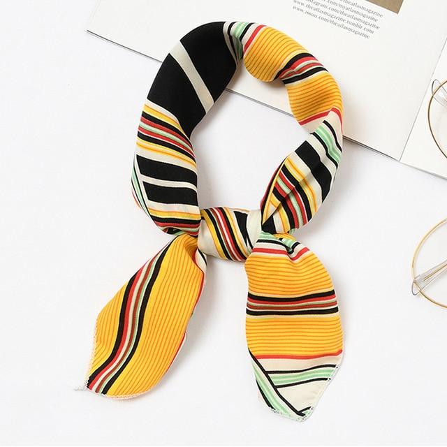1 шт. 2018новый 50*50 см женский шикарный маленький шарф шейный платок зимний теплый цветочный Шелковый квадратный шарф простой лоскутный шейный платок ленты