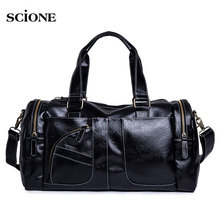 PU leather gym bag canvas sports fitness bags for women men sac se sport yoga travel
