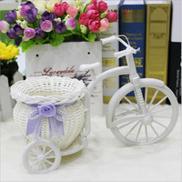 Large Wheel Float Round Basket Simulation Of Rattan Weave Flower Pot Flower Pot Decoration Wedding Decoration