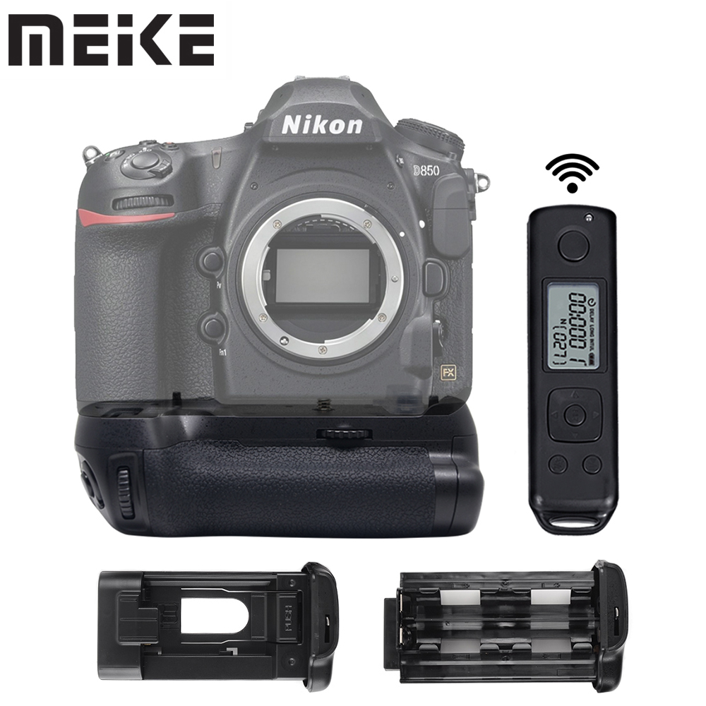 Meike MK-D850 Pro Vertical Shooting Power Pack Battery Grip with 2.4G Wireless Remote Control for Nikon D850 Camera