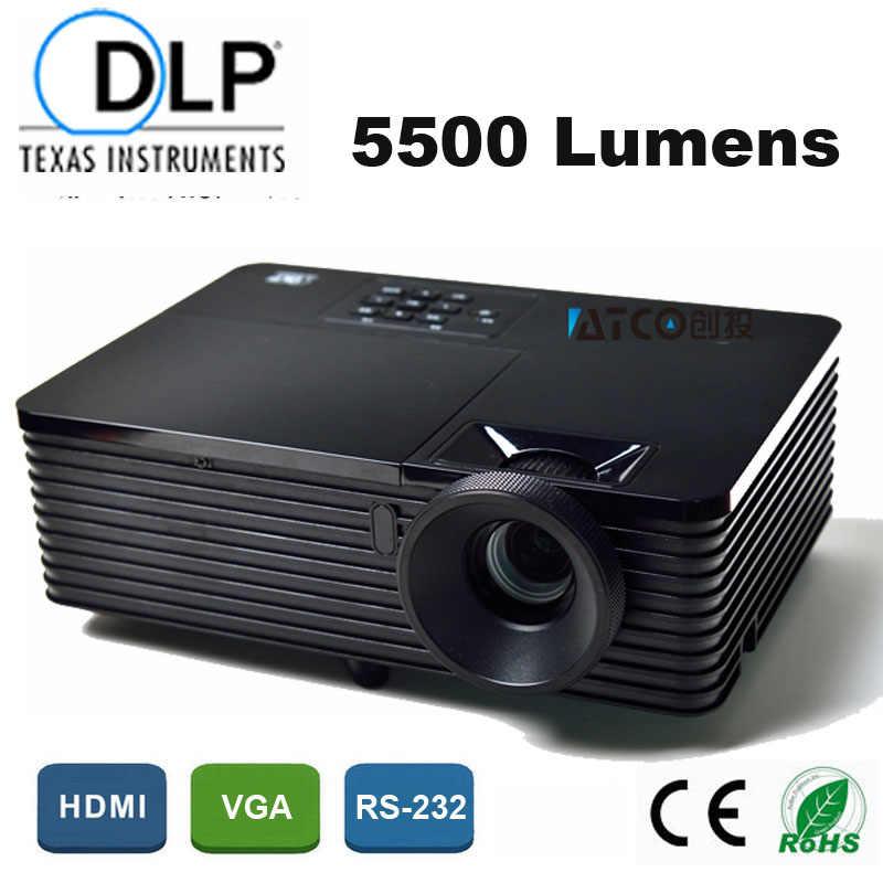5500 люмен бизнес образование офис портативный 3D проектор мультимедийный DLP Projektor