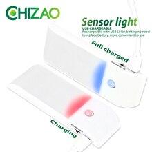 [CHIZAO] Motion sensor lamp Wireless LED Night Lights White Lighting USB Charging Emergency light Wall Walkway Closet