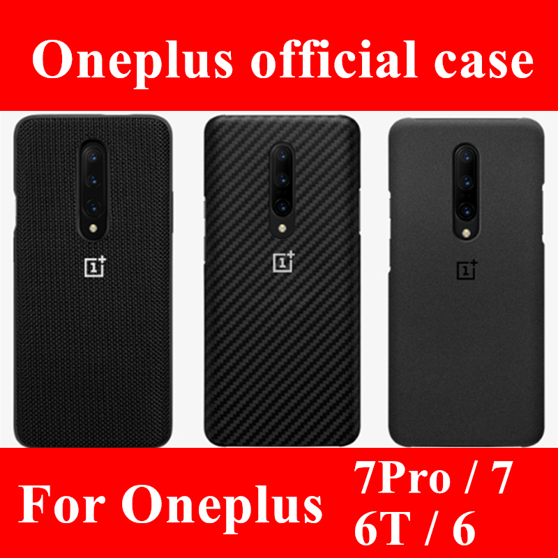 100% official  sandstone silicone back cover for OnePlus 6T 6 7 pro protective case original accessories karbon Nylon bumper(China)