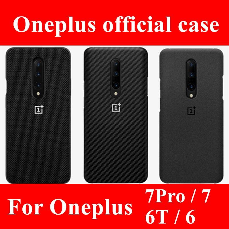 100% oficial de arenito 7 silicone voltar capa para OnePlus 6T 6 pro acessórios karbon Nylon bumper capa protetora original
