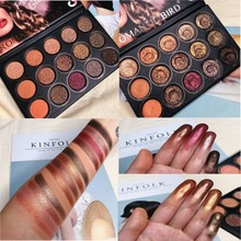 Brand 15 Color Shimmer Matte Eyeshadow Palette Glitter Waterproof Cosmetic Pallete Natural Pigment Makeup