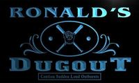 X0021 Tm Ronald S Dugout Baseball Sport Bar Custom Personalized Name Neon Sign Wholesale Dropshipping