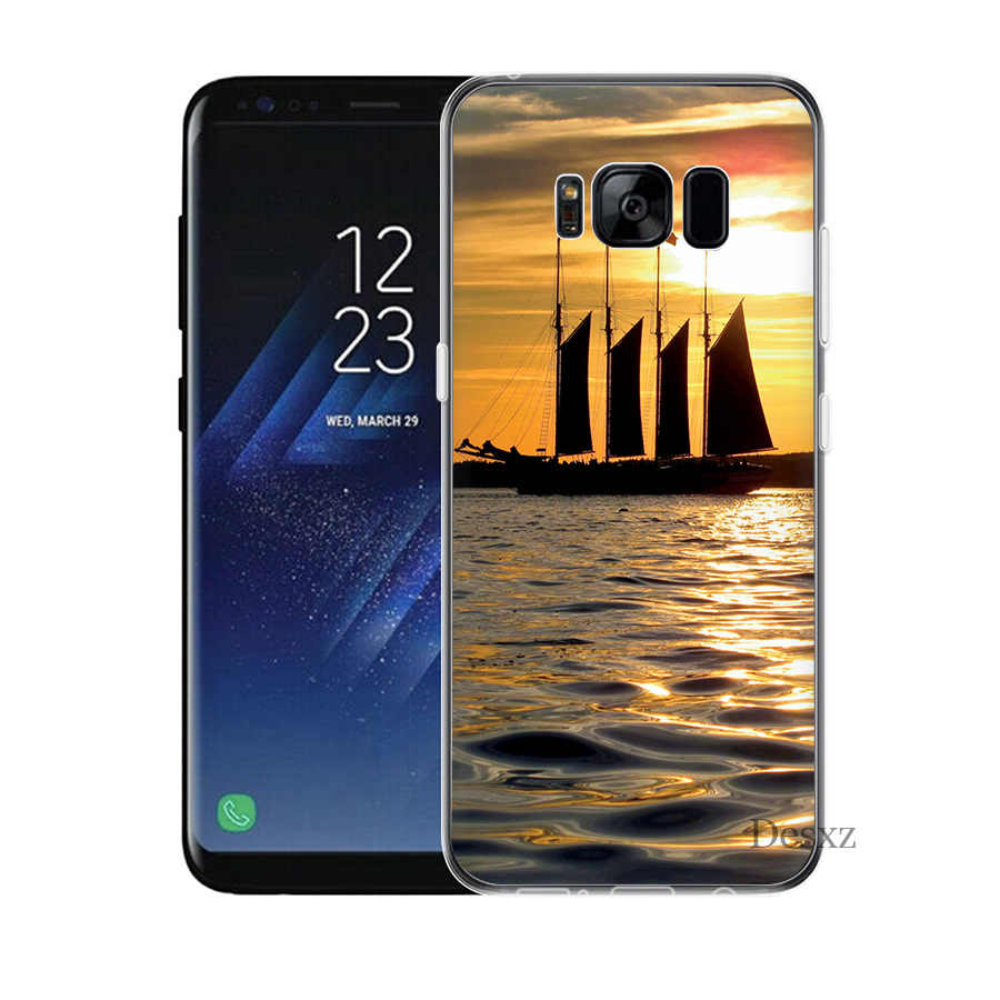 Cubierta de la caja para Samsung A7 A9 A10 A20 A30 A40 A50 A60 A70 A5 A6 A8 más J3 J5 J6 J7 pescado azul lago de pesca caja de Shell