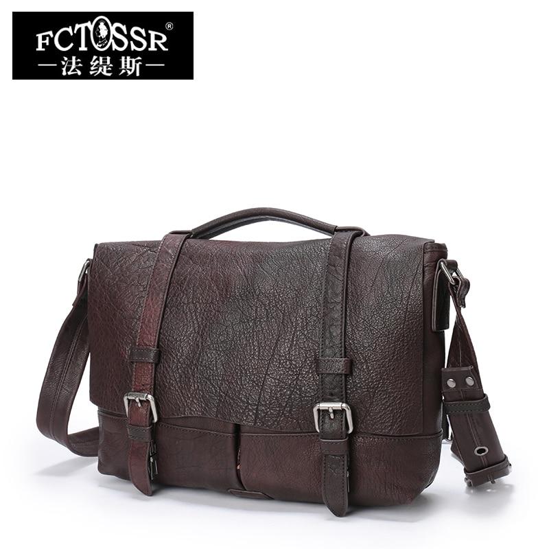 Для женщин кожа Сумки 2018 ручной работы из натуральной кожи Satchles плеча Для мужчин сумки настоящий кожаный мешок Office Портфели