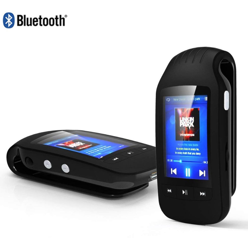 HOTT 1037 player clip bluetooth 8GB portable sport pedometer music player FM Radio Micro SD 1.8 screen stopwatch MP4