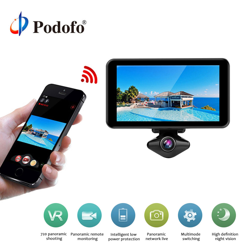 64gb 720 degree VR camera WIFI 360 panorama recorder battery 6 hours