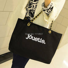 Big bags 2014 women's handbag winter chain letter canvas bag female casual shoulder bag