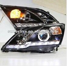 for CRV LED Angel Eyes Head Light 2007-2011