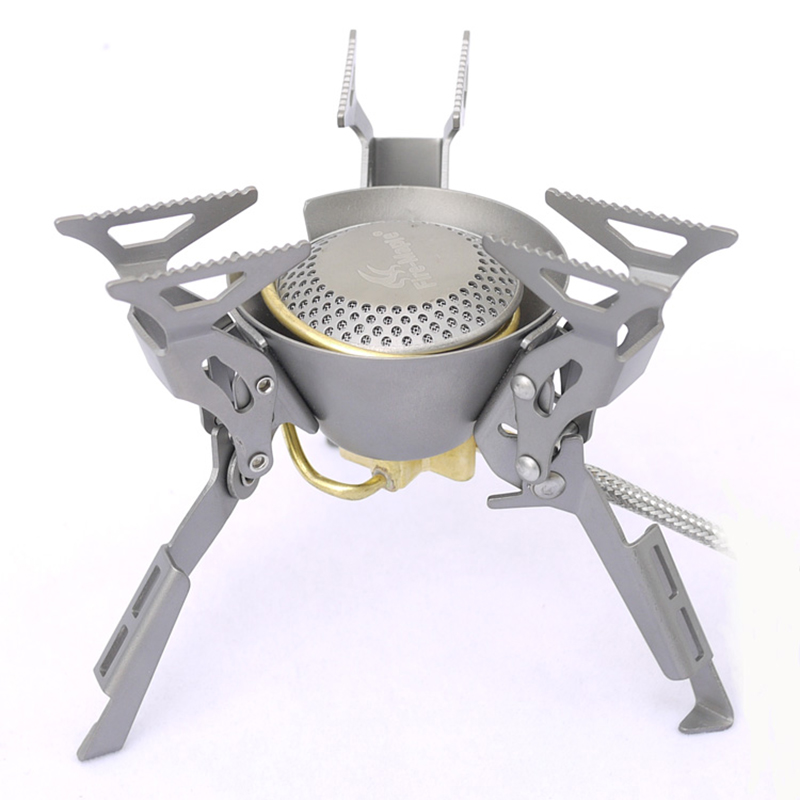 Titanium Gas Stove Ultralight 119g Camping Stove Outdoor Folding Split Gas Stove 2450W FMS-100T fire maple 2450w titanium alloy burner camping equipment ultra light collapsible burner fms 100t split gas stove outdoor stove
