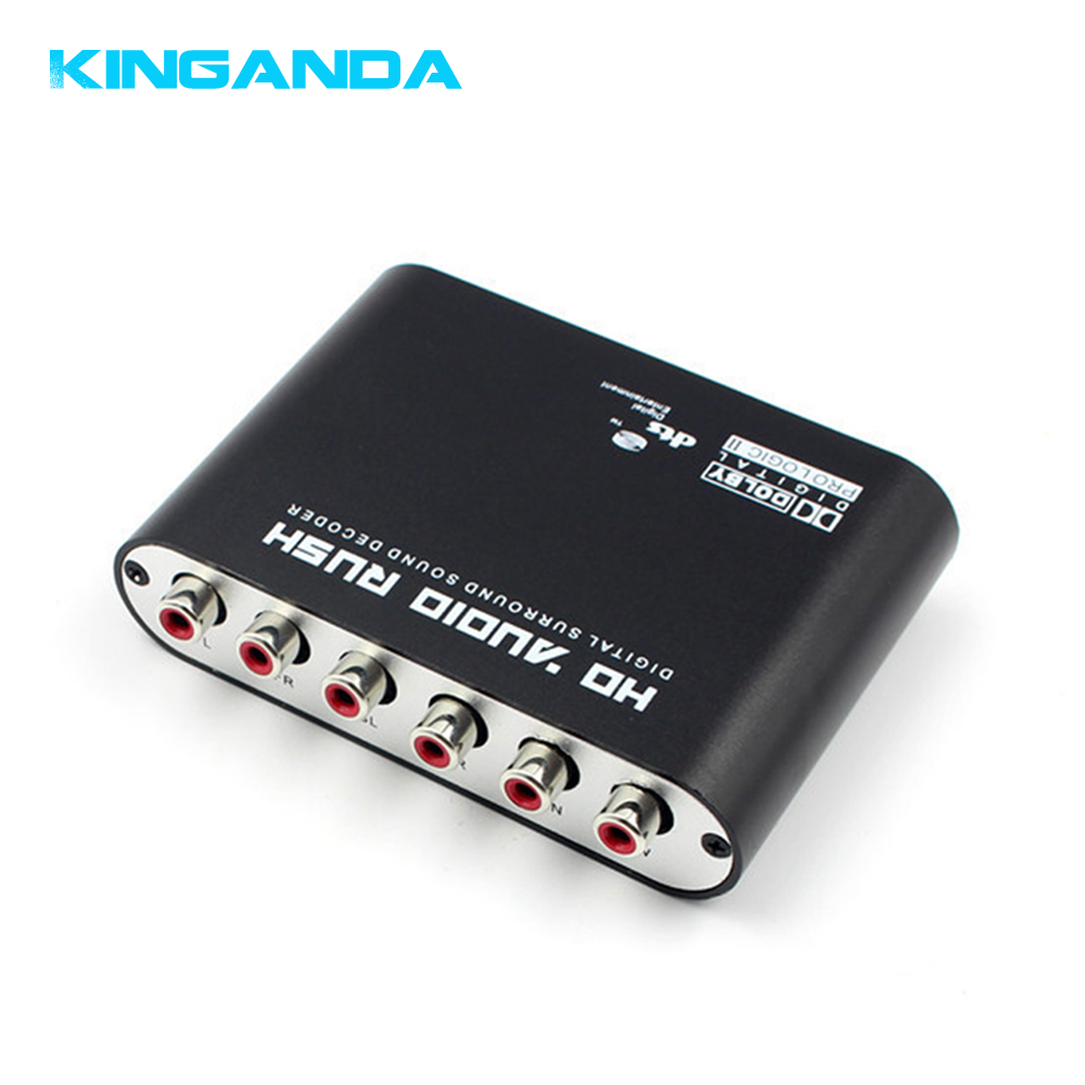 5.1 Channel AC3 DTS Dolby HD Audio Rush Converter Surround Sound Decoder Optical SPDIF Coaxial Digital to Analog 6 RCA Adapter doitop dolby dts ac 3 optical to 5 1 channel rca analog converter stereo dac digital 5 1 audio gear decoder sound spdif decoder