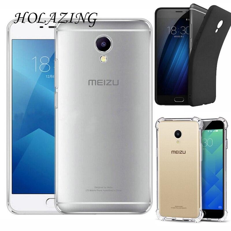 HOLAZING прозрачный гель ТПУ Резиновая Мягкий силиконовый чехол для Meizu M5 Note 5,5 Обложка Ультра тонкий защитный кожи крышка