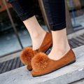 new arrival women shoes woman loafers shoes with fox fur casual shoes ladies zapatos mujer feminino zapatillas coreanas mujer