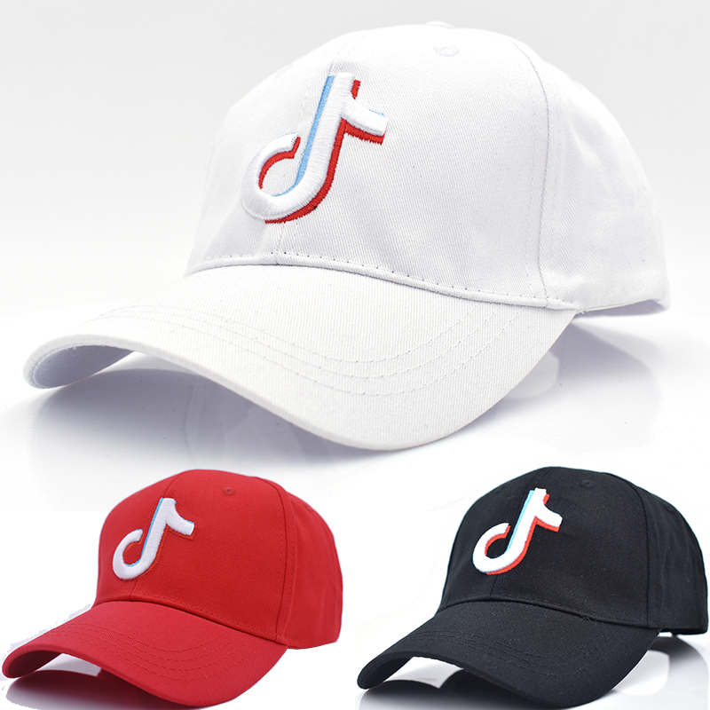2b8c2ce742905 Hottest Visors Tiktok LOGO Embroidery Baseball Caps Man Woman Red Black  White Streetwear Casquette Goft Club Hats
