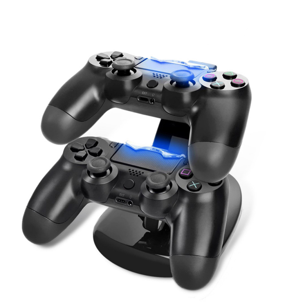 LED Dual USB Charger Charging Dock Stand for PS4 Station Prevent Cover Kit for Sony PS4 Playstation 4 Game Gaming Controller