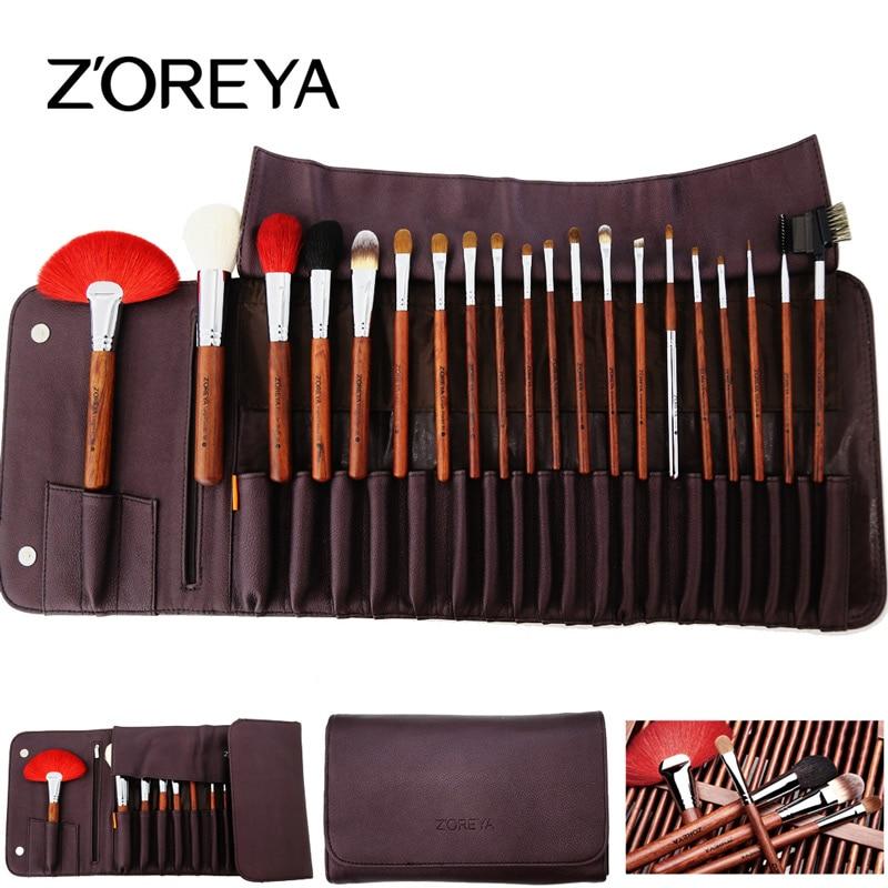 ZOREYA Brand 20Pcs Makeup Brushes High Gradeset Animal Hair Rosewood Professional Makeup Brush Sets Pincel Maquiagem