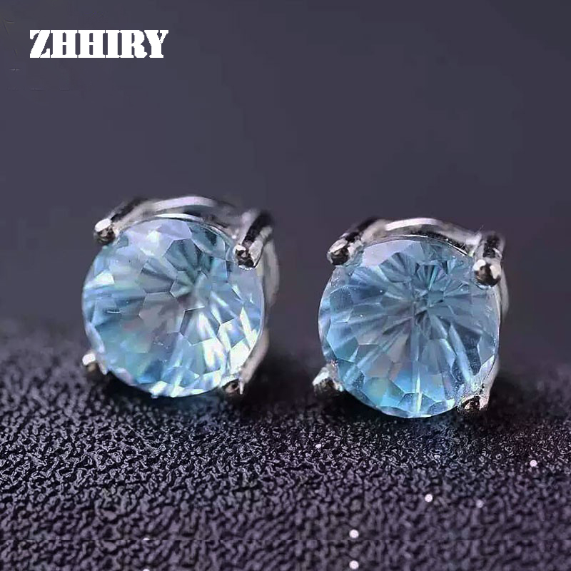 ZHHIRY Natural Blue Topaz Earrings Genuine Solid 925 Sterling Silver Real Gems Earring Women Stone Fine JewelryZHHIRY Natural Blue Topaz Earrings Genuine Solid 925 Sterling Silver Real Gems Earring Women Stone Fine Jewelry