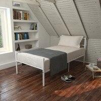 Nordic style Queen Size Metal Steel Bed Frame Mattress Platform with Headboard Modern Bedroom Furniture Metal bed frame set