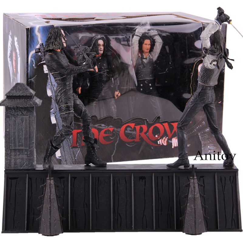 NECA The Crow Action Figure Eric Draven VS Top Dollar Horror Movie Dolls PVC Collectibles Action