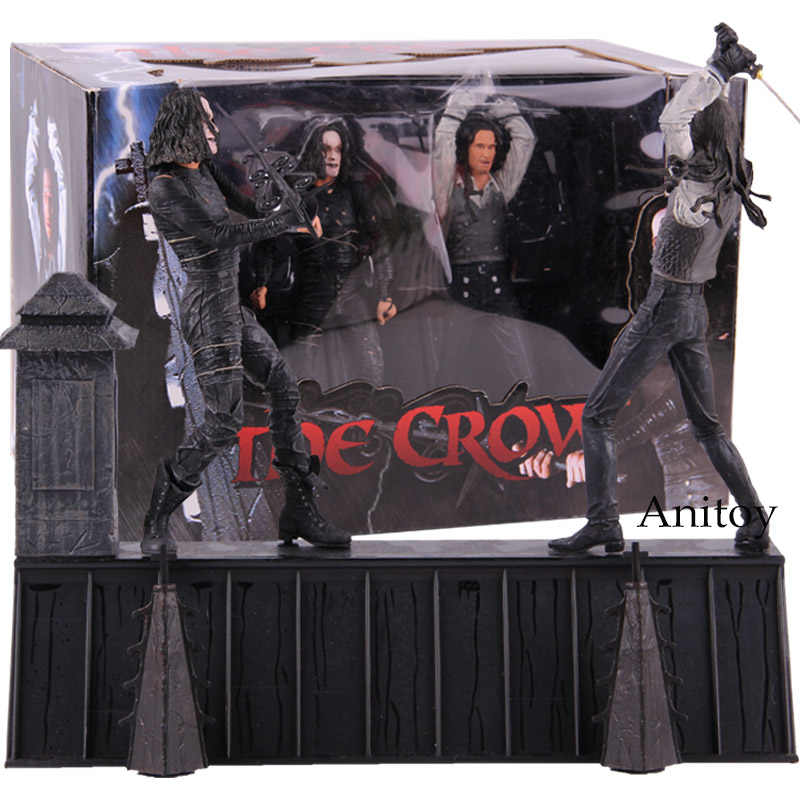 Neca The Crow Action Figure Eric Draven Vs. Atas Dolar Film Horor Boneka PVC Koleksi Action Figure Model Mainan