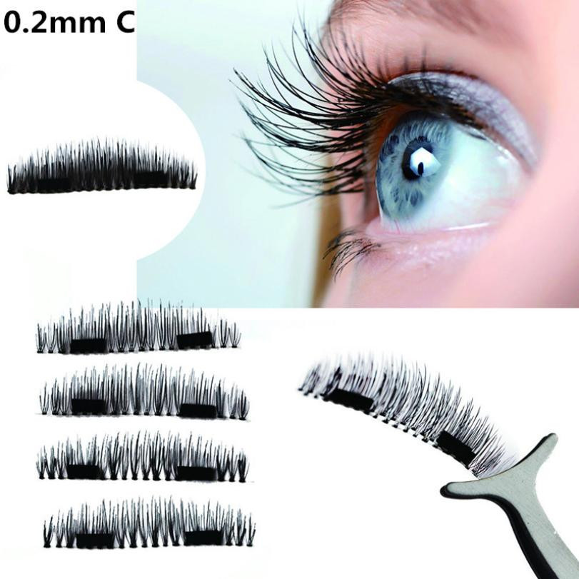 NEW Ultra thin 0 2mm Magnetic Eyelashes 3D Reusable False Magnet Eyelashes Extension extension de pestaas