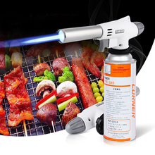Outdoor Picnic Automatic Electronic Flame Gun Butane Burners Gas Adapter Torch Lighter Hiking Camping Equipment Proof Waterproof