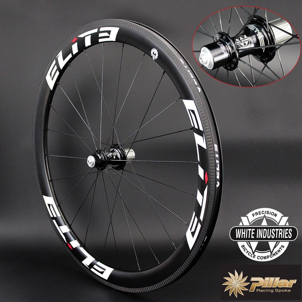 цены Elite White Industries T11 Road Bike Carbon Wheelset 30 38 47 50 60 88 Depth Tubular Clincher Tubeless Wheel Pillar Wing20