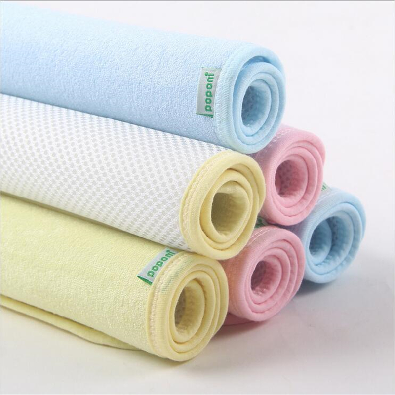 S Size 35 45cm 3 Colors Baby Waterproof Sheet Protector Mattress Bamboo Fiber Changing Pads Bed Wetting Topper Sheets Diapering