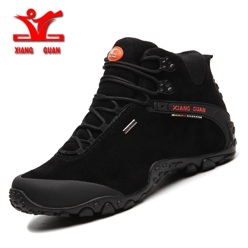 XIANGGUA 2017 winter men's outdoor sport shoes Climbing boots for men anti slip sport shoes men hiking shoes warm trekking shoes