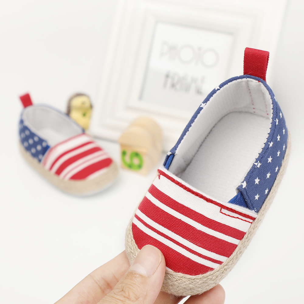 4747f756f72 Stylish First Walkers Baby Moccasins Slip-on Striped Baby Shoes Boy Newborn  Girls Soft Sole Booties Canvas Shoes Shallow