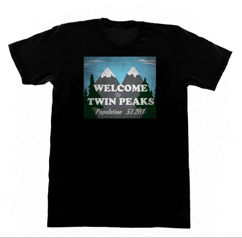 Fashion Funny Tops Teeswelcome To Twin Peaks Shirt Tshirt 110 Shirt David Lyncho Neck Streetwear Tees