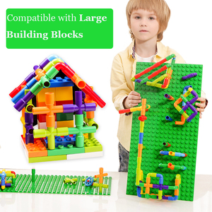 Image 4 - Creativity Pipe Building Blocks Assembling Toy for Children Educational Tunnel Block Model Bricks