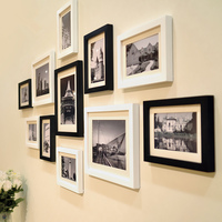 Modern Simple Style 11pcs Set Wooden Picture Frame Set Quality Wall Photo Frames Home Decor Picture