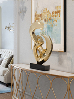 Gold Silver Large Size Modern Sculpture Abstract Marble Base Sculpture Home Decor Resin Sculpture Statue for Decoration