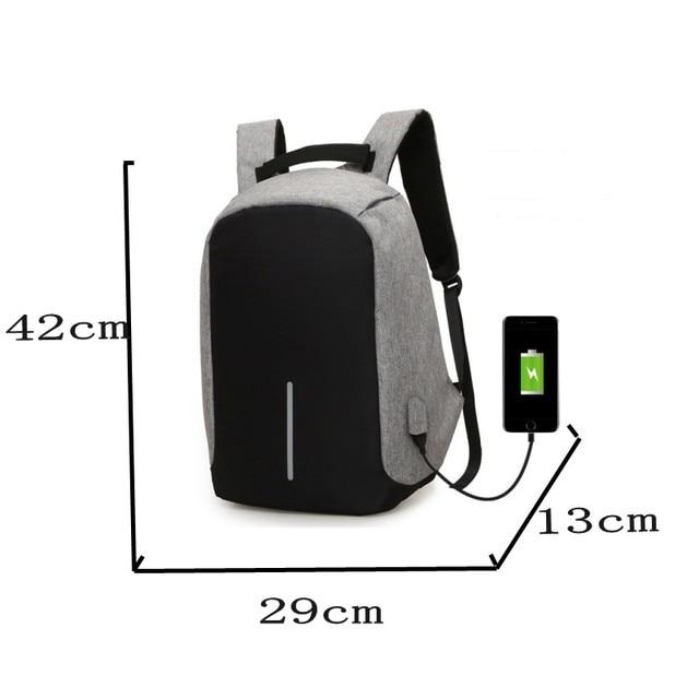 Brand Cool Urban Backpack Unisex Light Slim Minimalist Fashion Backpack Women USB External Charge Laptop Backpack School Bag