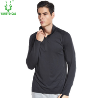 Fitness Men Long Sleeve Men Thermal Muscle Stand Neck Compression Tights Sweatshirt