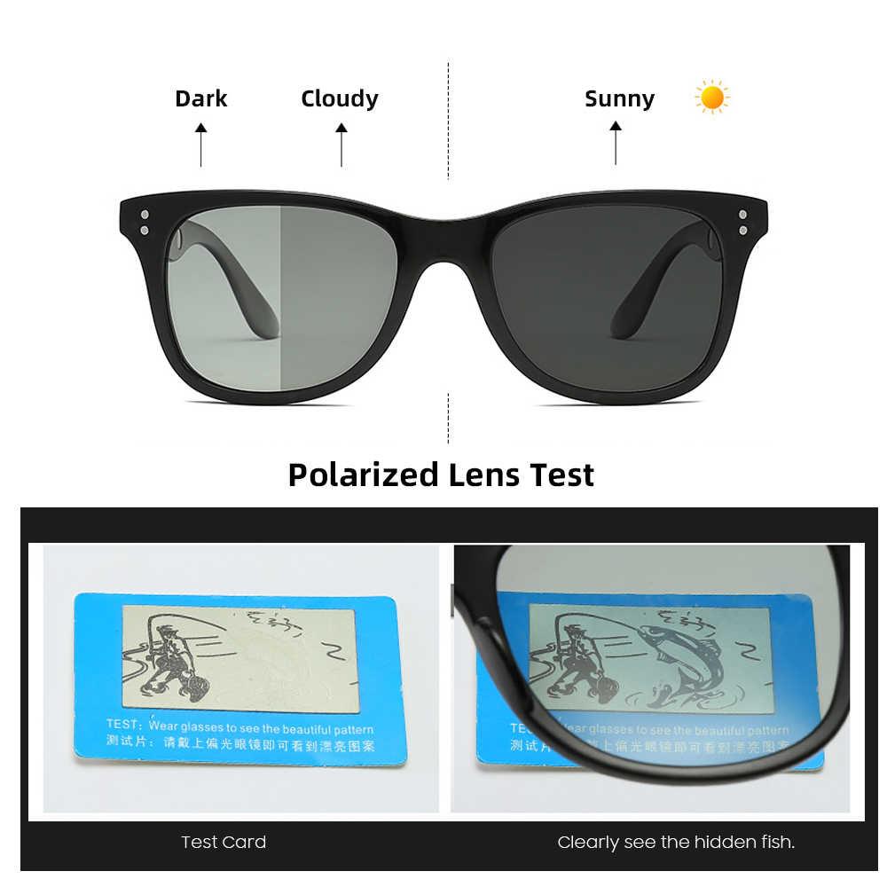 Vivibee clássico quadrado transição photochromic masculino óculos de sol polarizados preto fosco mulher terapia magnética 2019 óculos de sol