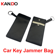 Kan.Do genuine leather car key sensor jammer Card Anti-Scan