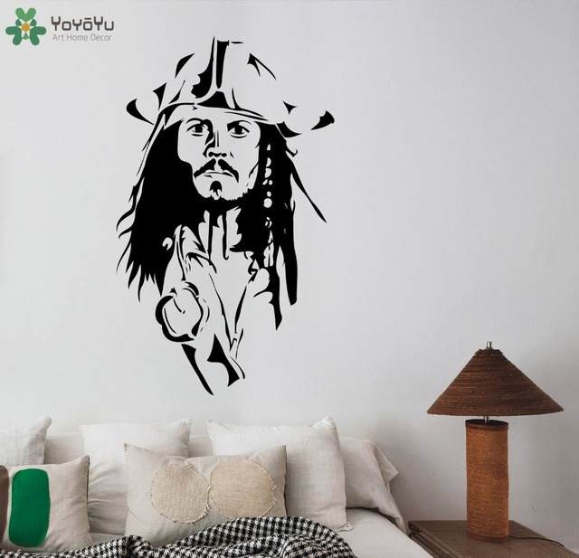 Pirates Kids Wall Decal: Captain Jack Sparrow Wall Decal Removable Vinyl Wall
