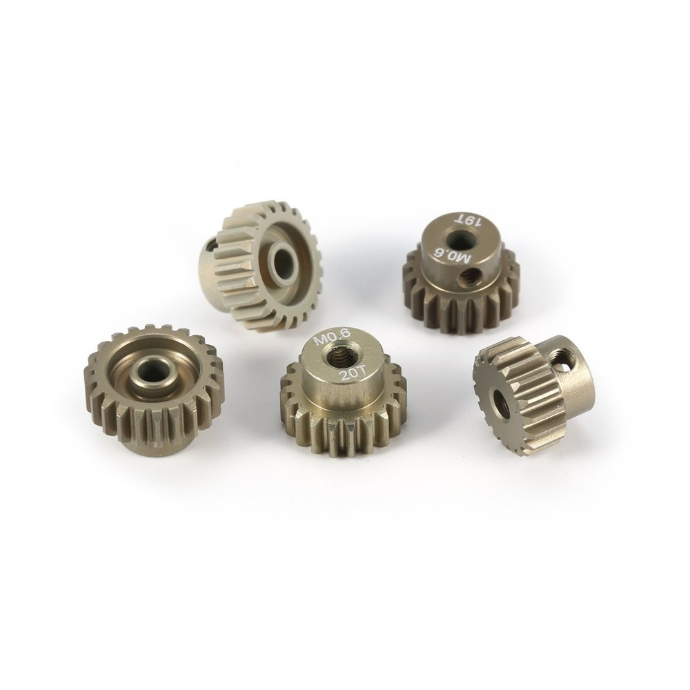 Image 4 - SURPASS HOBBY M0.6 5Pcs 3.175mm 13T 14T 15T 16T 17T 18T 19T 20T 21T 22T Metal Pinion Motor Gear Combo Set for RC 1/8 1/10 Car-in Parts & Accessories from Toys & Hobbies