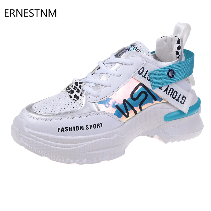 ERNESTNM 2019 Woman White Sneakers Hand Painted Casual Pink Ladies Vulcanized Shoes Fashion Summer Sneakers Zapatos De Mujer