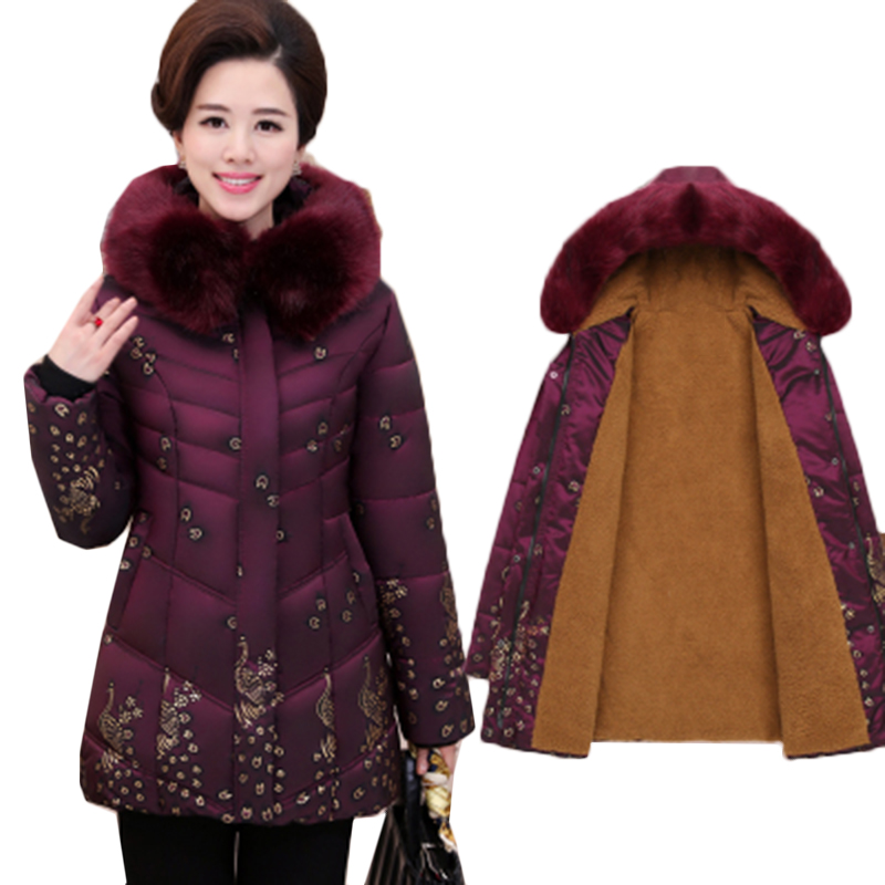 2019 Plus Size 5XL Winter Jacket Women Large Fur Collar Wadded Padded Coats Jacket Female Hooded Down Cotton Coat Parka