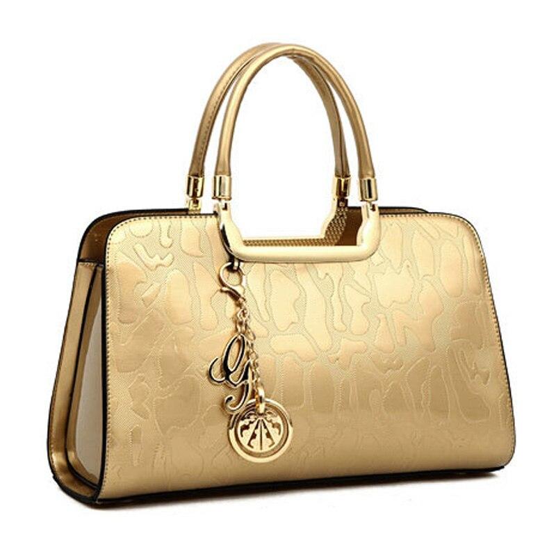 1f7ebd3369 Dropwow New Luxury Women Patent Leather Handbags Designer Top Handle ...