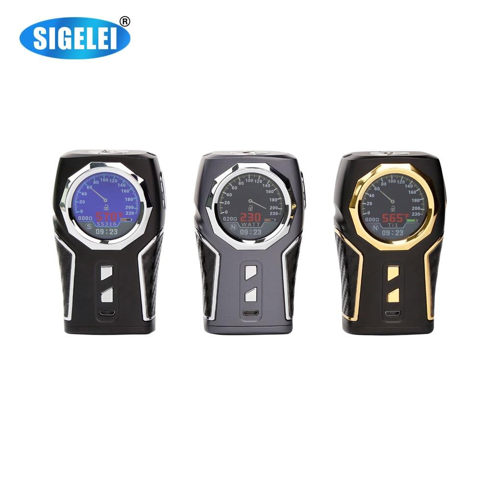Original Authentic Sigelei TOP 1 E-Cigarette 230W E Cig Box Mod Sigelei TOP1