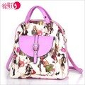 4 colour double by 2016 new shoulder bag female character printing letters female shoulder Messenger Bag