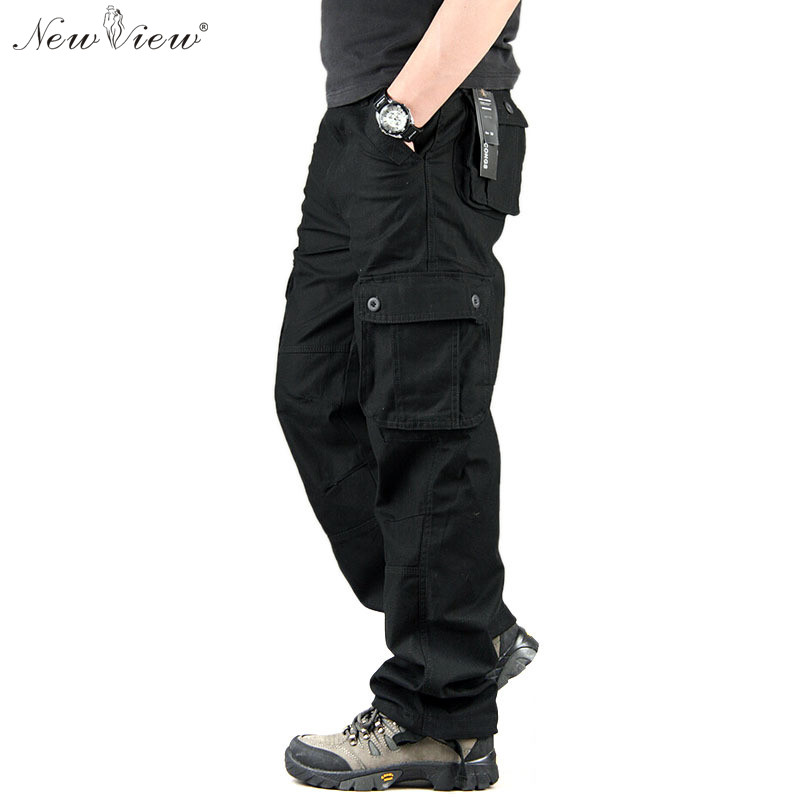 2015 Fashion Brand Men s Cargo Pants Casual Mens Pant Multi Pocket Military Overall Long Trousers