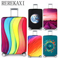 REREKAXI Elastic Fabric Luggage Protective Cover Suitable18 32 Inch Trolley Case Suitcase Dust Cover Travel Accessories